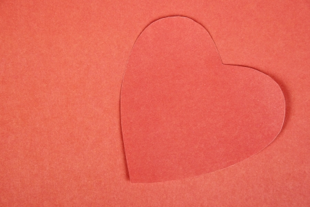 Heart from paper  Valentine photo