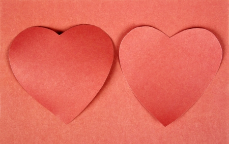 Hearts from paper  Valentine Stock Photo - 17558979