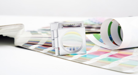 image editing: Lens and pantone  Design and prepress concept
