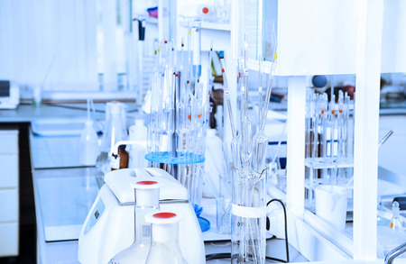 Chemical laboratory background. Laboratory concept. Stok Fotoğraf - 28771556
