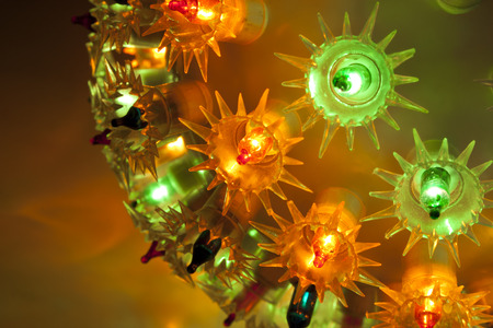 Decorative festive light photo