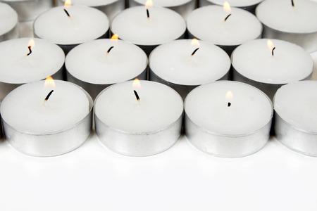 glorification: White background from burning candles