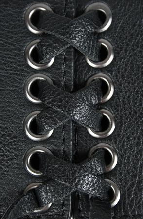 leather lacing background photo