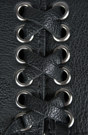 leather lacing background