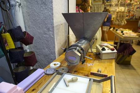 Equipment for soap production  in shop photo