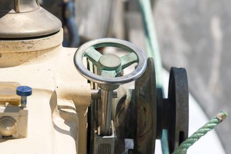 constrain: Motor of the sea boat Stock Photo