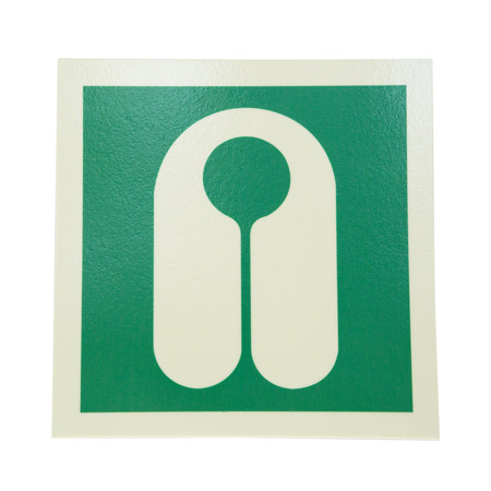 lifejacket: green sign lifejacket isolated on white background Stock Photo