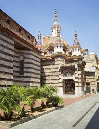 mar: Christian church Lloret de mar sunny day