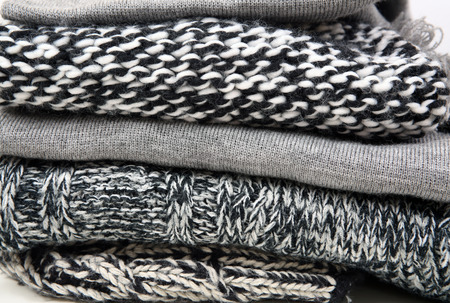 cable knit: Woolen knitted clothes background