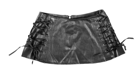 leather skirt: Black leather skirt Stock Photo