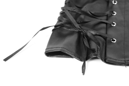 leather skirt: Leather skirt with a lacing background