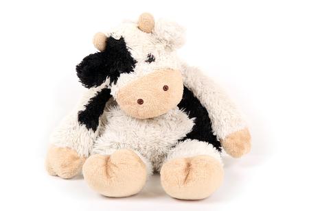 trabajo manual: Vaca del juguete, viejo trabajo hecho a mano Foto de archivo