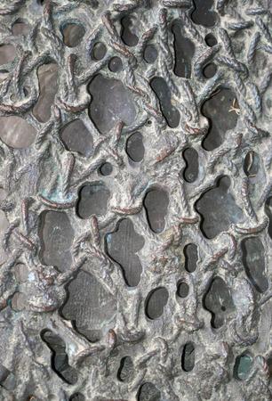 fishnet: Brass decorative lattice texture like fishnet close-up. Background. Stock Photo