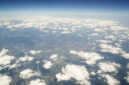 heaven and earth sky above cloud aerial sky and clouds background
