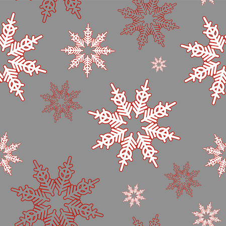 hand drown: Set of of seamless christmas patterns. Hand drown winter vector background.