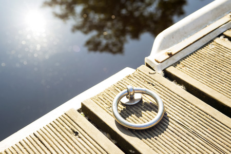 Ring for the mooring of boats on wooden pier