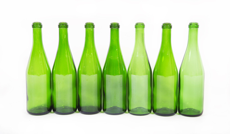 colored bottle: Bottles of champagne Stock Photo