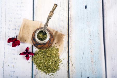 Traditional yerba mate tea popular in latin america Stock Photo