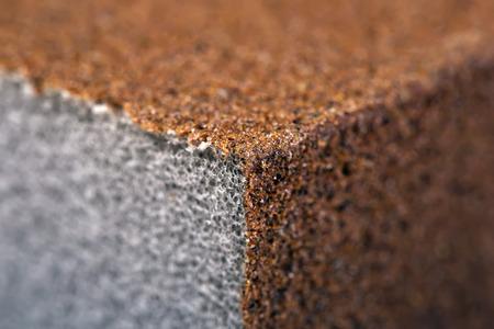 Sandpaper  Abrasive Sponge. Close-Up. Macro. Texture, Background Series
