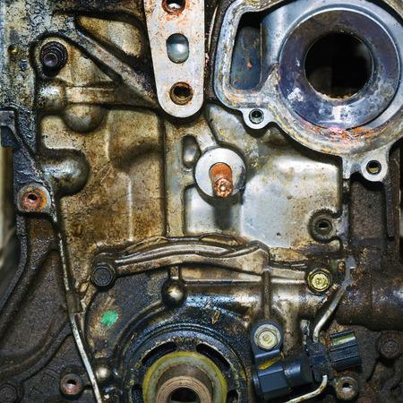 Car engine intake side receiver closeup in service Stock fotó