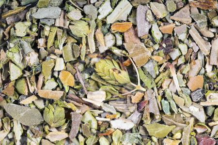 Background of herbal seasoning - thyme, close-up