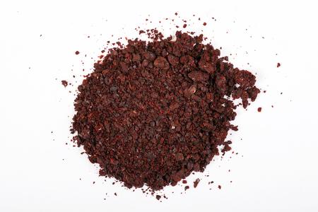 Heap of ground sumac spice. Macro shot Banco de Imagens