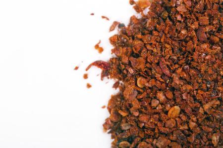 Extra chilly spicy dry seasoning. Macro shot Banco de Imagens