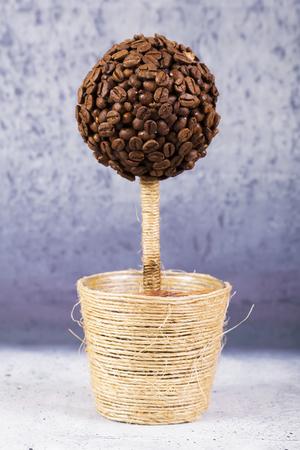 Beautiful Coffee Topiary with cinamon. Macro shot