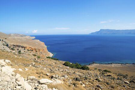 Road to Balos beach on the edge of Crete. A place where three seas meet.