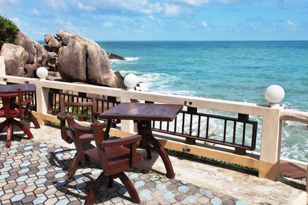 Terrace with beautiful sea view photo