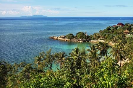 Beautiful tropical landscape in Koh Phangan, Thailand photo