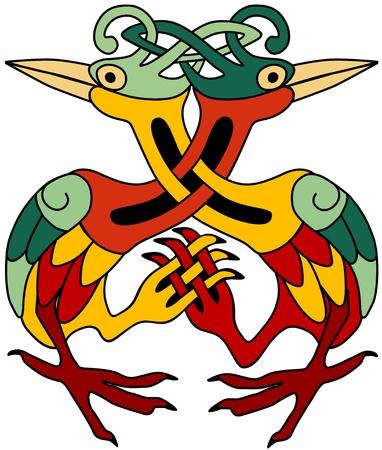 celtic design: Celtic ornamental herons
