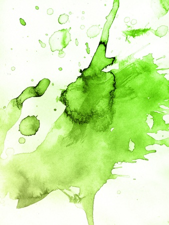 lime green background: Abstract watercolor hand painted background