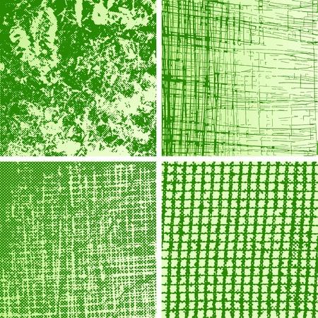 burnt edges: Set of grungy design elements. Nets, scratchs; cracks. Jpg version