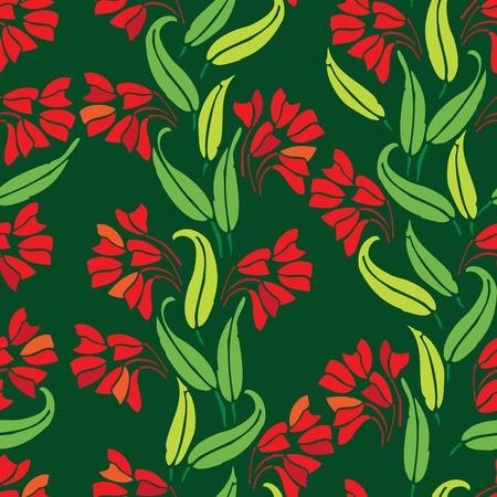 wallflower: Seamless floral pattern
