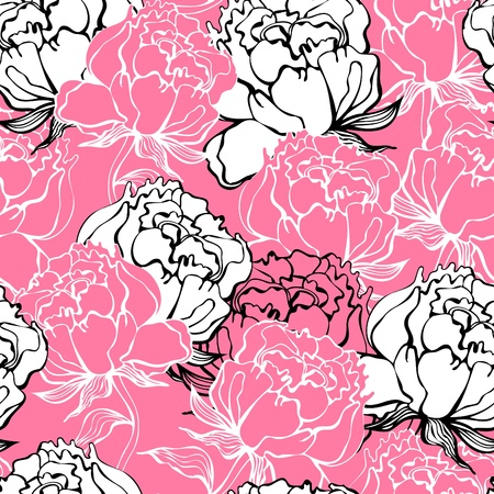 Rose flowers seamless background Vector