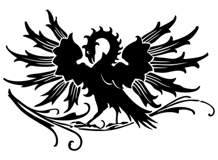 bird  celtic: Medieval eagle