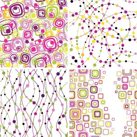 square detail: Conjunto de elegantes fondos geometical perfecta