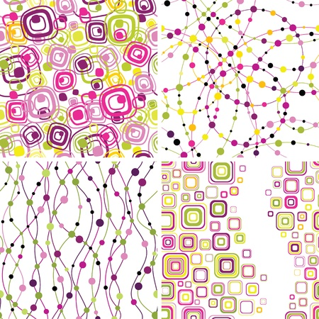 Set of stylish seamless geometical backgrounds Stock Vector - 11651586