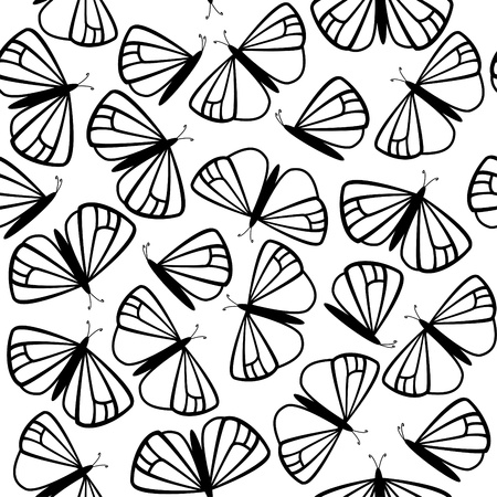 Butterfly seamless pattern Stock Vector - 11651581
