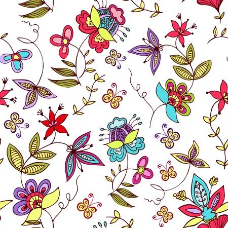 Floral seamless ornament Stock Vector - 11651573