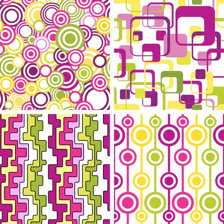Set of stylish seamless geometical backgrounds Vector