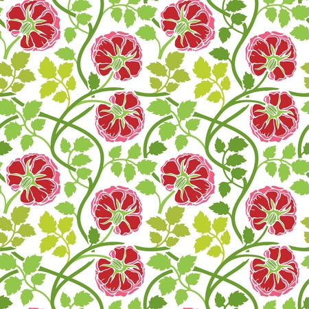 Floral seamless ornament, nice for wallpaper, wrapper paper or fabric swatch 版權商用圖片 - 11651588