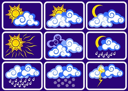 rainy days: Weather icon set