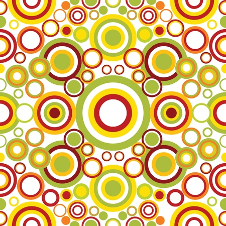 textures: Bright geometrical ornament with circles Illustration