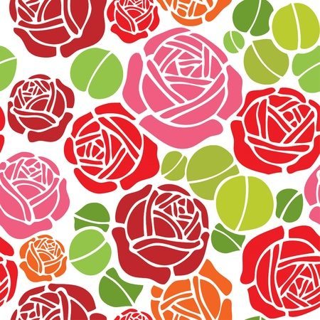 textile background: Valentine wallpaper pattern with rose design