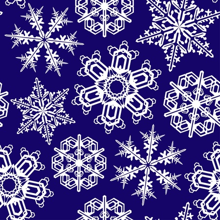 seamless ornament with snowflakes Vector