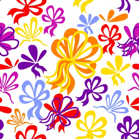 Seamless pattern with bows Stock Vector - 11651621