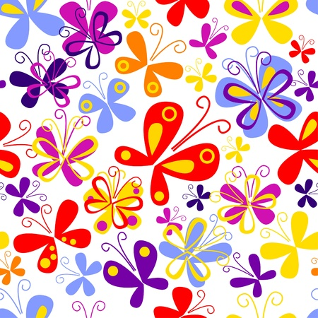 Butterfly seamless pattern Stock Vector - 11651632