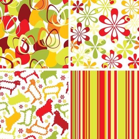 wrapper: Set of easter seamless ornaments Illustration